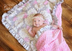 Personalized Pink and Gray Minky Blanket for by MinkyBabyGifts, $26.00 Gonna have to have this too!! OMG it is sooooo cute!