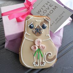 mother's day pug biscuit by eat my cake london   notonthehighstreet.com
