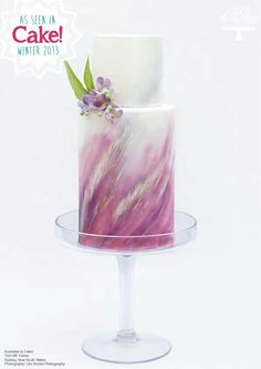 Hand-painted double barrel cake - Yum Me Cakes