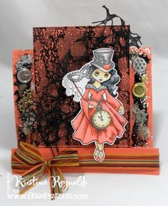 Stamping & Scrapping in California: Stampendous/May Arts  #Stampendous #Halloween Magic by @Kristine Reynolds
