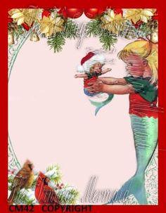 CM42 #BabyMermaidFabricBlock #Mermaid  #ChristmasApplique by mermaidfabricshop, $6.99