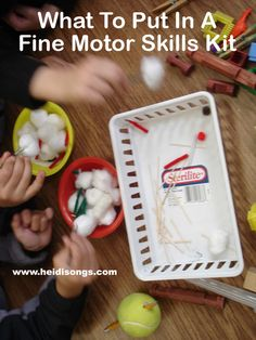 What to Put In a Fine Motor Skills Kit