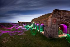 Light Painting on Former Nazi-Occupied Bunkers - My Modern Metropolis