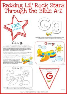 Free Bible Verse Printables Letter G is for GO ~ from Raising Lil Rock Stars Through the Bible A-Z