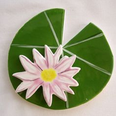Koi  Mosaic tile ceramic lily pad and lotus by ArtTileMosaics, $12.95