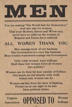 Anti-Suffrage Propaganda