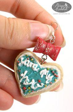 You're My Hero Cookie Earrings. $25.00, via Etsy.