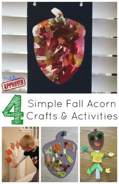 Simple Fall Acorn Crafts and Activitiesl - from Toddler Approved