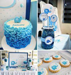 Cute Blue Elephant Dessert Table {Boys Christening} http://hwtm.me/14Z9NHf