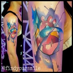 watercolor heart by Russell van Schaick