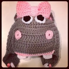 So in love right now with this Ms. Hippo Crochet Hat.  Beautifulbeans.blogspot.com or facebook.com/beautifulbeans