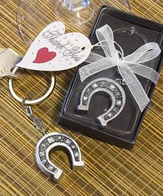 Horseshoe Key Chain Favors  - Western Country Wedding Favors for erin