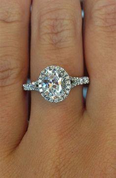 Stunning Oval Diamond Halo Engagement