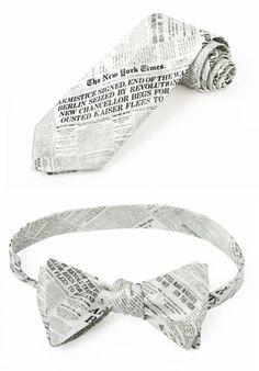 New York Times printed silk ties