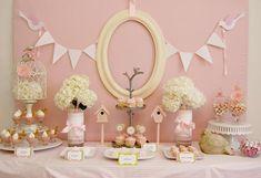 dessert tables, shower themes, baby shower decorations, baby shower ideas, girl baby showers