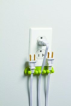 'Plug Out' - keeps cords safe while also saving energy.