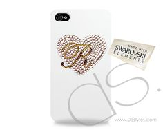 Cuore Personalized Swarovski Crystal iPhone 5 and 5S Case                    http://www.dsstyles.com/product/cuore-personalized-swarovski-crystal-iphone-5-and-5s-case crystal iphon, swarovski crystals