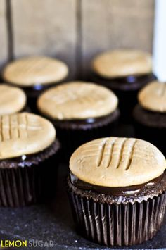 Chocolate Cupcake with Peanut Butter Cookie Frosting