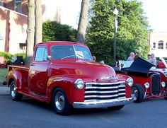 car, chevy trucks, pickup trucks, red, dreams
