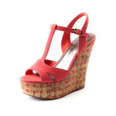 Womens Madden Girl Heidi Wedge, Coral, at Journeys Shoes