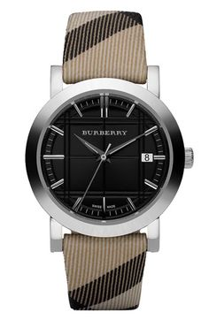 #Burberry Timepieces Round Stainless Steel Watch