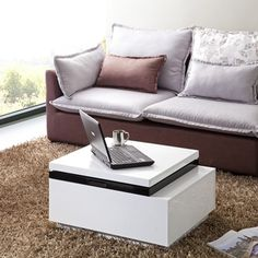 Matrix 'Nikka' High-Gloss Lift-Top Coffee Table | Overstock.com Shopping - Great Deals on Matrix Coffee, Sofa & End Tables