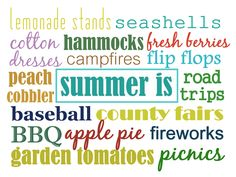Summer is...