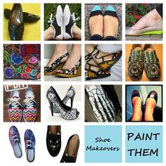 A great site with links to different ways to paint shoes.