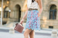 Statement Lace :: A-line skirt