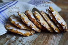 Gluten-free Iced Oatmeal Cookies, thin & chewy