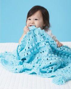 Laguna Blue Baby Blanket | AllFreeCrochetAfghanPatterns.com