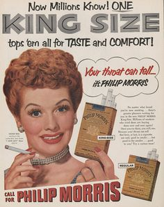 Vintage Cigarette Ad: Lucille Ball