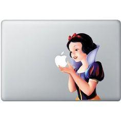 Full Color Snow White MacBook Vinyl Decal by Buyzintl on Etsy, $10.00