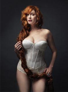 peopl, sexi, style, curvy women, sexy redhead lingerie, beauti, curvi women, christina hendricks, hair