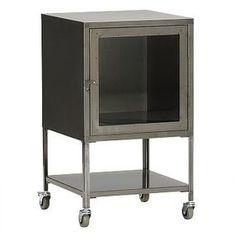 West Elm Short Industrial Metal Bath Cabinet, Raw Steel - Gray