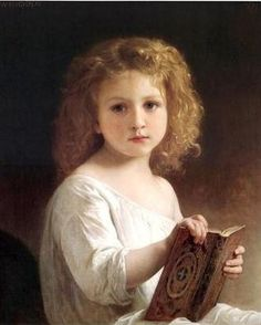 'The Story Book,' by Wm Adolphe Bouguereau