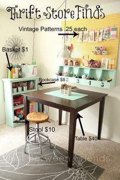 Love this space!  Just Between Friends: My Craft Room {2}