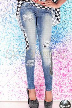 Jeans Ocassion Square Blue jean ocass, ocass squar, squar blue