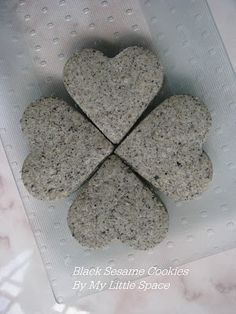 Black Sesame Biscuit Recipe (My Little Space)
