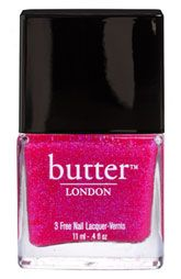 Loving the sparkling pink goodness of Butter London's spring shade Disco Biscuit!