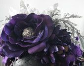 Our Purple and Silver Holiday Glitter Floral Crown Headpiece featured in an Etsy Christmas Treasury!