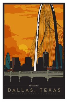 Margaret Hunt Hill Bridge. Dallas Texas.