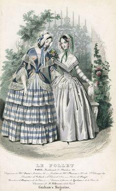 december, women fashion, le folletgraham, decemb fashion, fashion 18371850, 1840s fashion, 1840s dress, folletgraham magazin, 1845 franceus