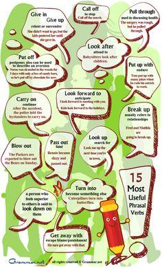 15 most useful phrasal verbs