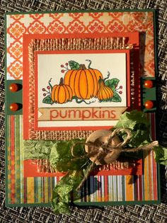 Creative Cafe' Kit for October: Fall Harvest Pumpkin Harvest