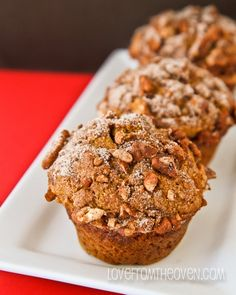 Cinnamon Pumpkin Banana Muffins! Such a delicious way to start the day.