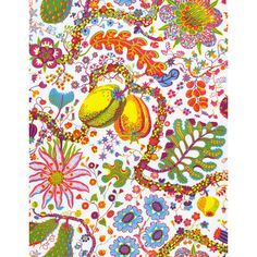 eccentric print shower curtains for guest and master bath, textiles designed by Josef Frank
