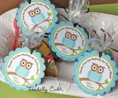 Owl birthday favors