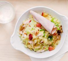 Spitskoolstamppot met appeltjes en gegrilde kalkoenfilet - Recept - Jumbo Supermarkten