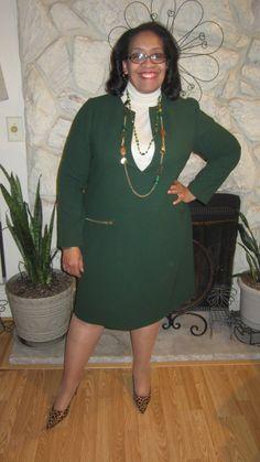 Carolyn's dress made from Mood's wool crepe. #moodfabrics